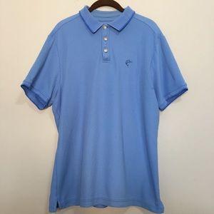Islander large blue polo men's shirt